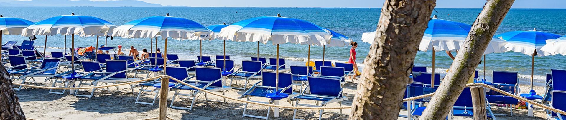 Villaggio con spiaggia privata in Toscana
