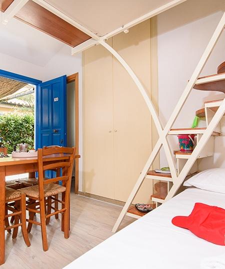 appartamenti blue con soppalco