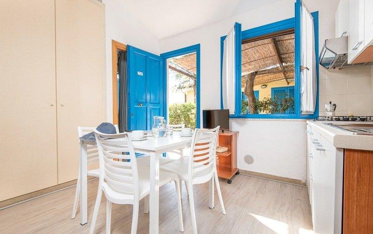 Soggiorno appartamento blue